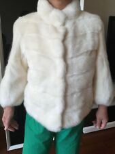 Rare New Ivory / White Mink Fur Jacket Coat