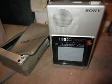 VINTAGE SONY WALKMAN B&W ANALOG TV W/SLIPCASE
