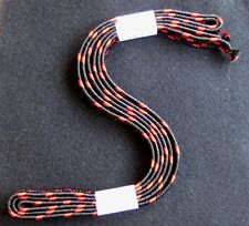 Black and red sageo, artificial silk, for long katana, Shigeuchi weave