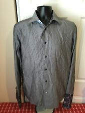 Robert Graham Mens Shirt French Cuff Gray Size M 39 15 1/2 Nice!!!