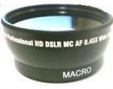Wide Lens for Sanyo VPCFH1 VPCFH1A VPCFH1ABK VCP-l04SWU