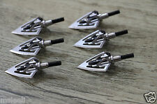6 PCs Fighter Broadheads 100 Grain 6 Sharp blades Tips of Compound Bow Crossbow