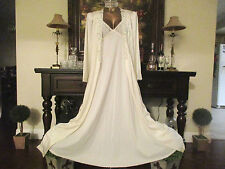 "Vtg Olga Robe Style 94280 Sz M w/ a Chic Lingerie Co. Long nightgown 107"" Sweep"