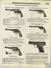 1924 PAPER AD Smith & Wesson Revolver Military Heavy Frame Automatic US Army
