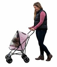Pet Gear TL8150PK Travel Lite Pet Stroller for Cats and Dogs up to 15lbs Pink