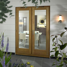 OAK FRENCH DOORS RIO - 6ft 1800mm 54mm - 1.5 U Value - SUPPLIED UNFINISHED