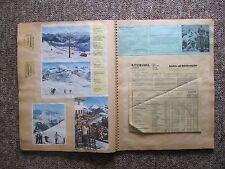 1962/63 Austria Scrapbook. Train tickets, Airplane tickets, menus, etc. 50 Pages