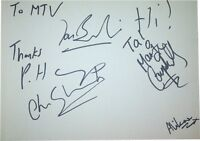 The Lightning Seeds SIGNED AUTOGRAPHS MTVs Most Wanted Guest Book Page AFTAL