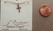"Copper Pendant Cross 18"" Chain Necklace Wheeler Healing Arithitis Pain 402"