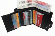 Men's New Genuine Italian Leather Wallet Credit Card,Photo ID,Coins Space
