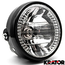 6.75'' Black Headlight +Signal For Kawasaki VN Vulcan Classic Drifter 800