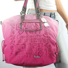 New Coach Poppy XL Storypatch Spotlight Shoulder Hand Bag Tote 15312 Pink RARE