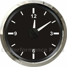 52mm Analogue Clock 12v and 24v Boat Truck Car ( Splash proof ) – Black Face