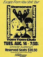 "Blondie / The Ramones Tom Tom Club 16"" x 12"" Photo Repro Concert Poster"