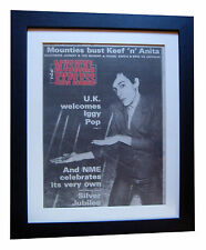 IGGY POP+NME+Lust For Life+POSTER+RARE ORIGINAL 1977+FRAMED+FAST GLOBAL SHIP