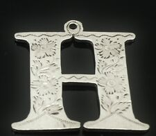 Silver HOCK or HOLLANDS Decanter Label, London 1830, Robert Hennell II