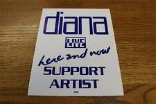Vintage OTTO Backstage Concert Door Sign Diana Ross Here & Now SUPPORT ARTIST