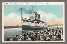"[63609] OLD POSTCARD STEAMER ""CAYUGA"" AT QUEENSTOWN, TORONTO TO NIAGARA FALLS"