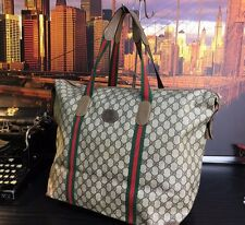 GUCCI Italy Authentic Luxury Authentic Mens Tote Carryall Travel Duffle Bag