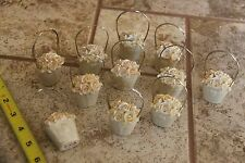 Wedding Favor Table Marker Card holder Ivory Baskets Picture holders lot of 11