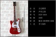 1/6 Scale Toy Handmade wooden Red color Folk electric guitar model instrument