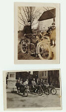 LOT of 2 - 1918 Orig Photos Harley Davidson & Others- American - Painted Post NY