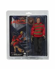 "NECA NIGHTMARE ON ELM STREET RETRO CLOTHED 8"" FREDDY KRUEGER ACTION FIGURE DOLL"