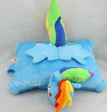 My little Pony Friendship is Magic Rainbow Dash Plush Pillow Cushion Soft Doll