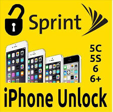 SPRINT FACTORY UNLOCK CODE SERVICE IPHONE 7 7+ 6S 6S+ 6+ 6 5S 5C CLEAN IMEI