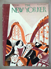 The New Yorker Magazine - July 2, 1927 ~~ Victor Bobritsky roller coaster cover