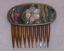 Vintage Small Abalone Hair Comb