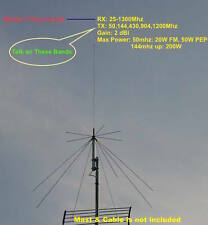 Harvest D130N 25-1300mhz Super Discone Wide Band Base Antenna (N Connector)