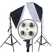 New Studio 50 x 70cm E27 4in1 4x head Socket Lighting Lamp Softbox Photo Video