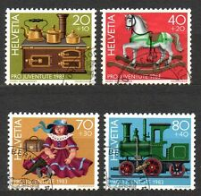 Switzerland - 1983 Pro Juventute: Antique toys Mi. 1260-63 FU