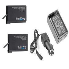 TWO 2 GoPro Original Batteries + Charger For Hero4 CHDHY-401 CHDHX-401 CHDBX-401