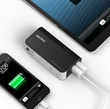 Sharkk 5000mAh Dual USB Battery Portable Charger Power Bank & Wall Plug Adapter