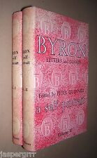 1950. BYRON LETTERS & DIARIES. A SELF PORTRAIT. 2 VOLS. HARDBACKS DUST WRAPPERS