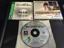 Final Fantasy Tactics Greatest Hits Playstation 1 2 PS1 PS2 System Complete Game