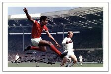 EUSEBIO BENFICA PORTUGAL SIGNED AUTOGRAPH PHOTO PRINT  SOCCER