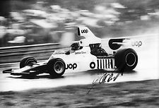 Jackie Oliver SIGNED 12x8 ,F5000 Shadow DN6, Mid Ohio 1975