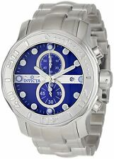 New Mens Invicta 0879 Chronograph Stainless Steel Blue Dial Ocean Ghost Watch