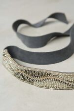 NWT Anthropologie Shimmering Waves Belt Suede Tie One Size Small/Medium $58