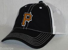 Pittsburgh Pirates Cap ~CLASSIC MLB PATCH/LOGO ~RETRO SNAP BACK ~BLK/WHITE ~NEW