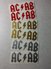 6 pack ACAB Biker vinyl decal sticker pack x 6 A.C.A.B.  rock logo ANONYMOUS