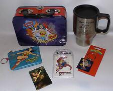 DC COMICS : WONDER WOMAN : LUNCH BOX, KEY RING, MIRROR, MAGNET, CUP (TK)