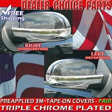 2007-2013 CHEVY SILVERADO (LOWER) Chrome Mirror COVERS With Puddle Light Hole