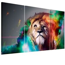 US SHIP Canvas Print Home Decor Wall Art Painting-Big Lion Framed Ready to Hang