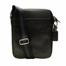 NWT Coach Men's Flight Bag Leather Crossbody Shoulder Bag Midnight Blue F54782
