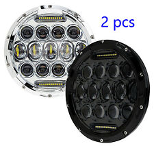 "7"" Round 75W LED Off-Road Work Light For Cherokee KJ 2002-2007 DRL High Low Bulb"