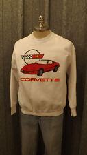 Vtg  1980's  Chevrolet Corvette Sweatshirt  sz Lrg  NWOT 83, 84, 85, 86, 87